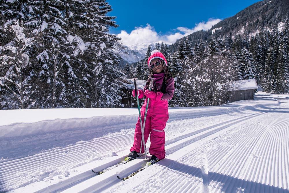 Langlaufen - gesunder Wintersport