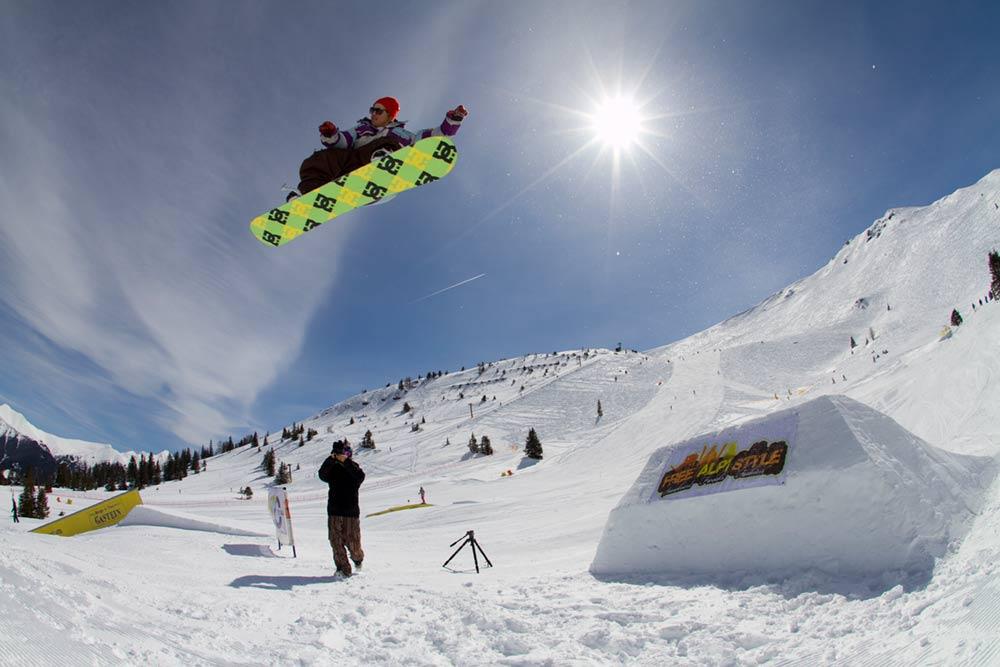 Snowpark Gastein für Freestyler